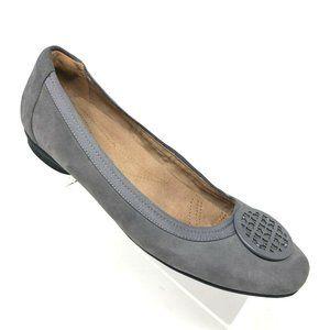 Clarks Candra Blush Gray Suede Ballet Flat Sz 9.5M